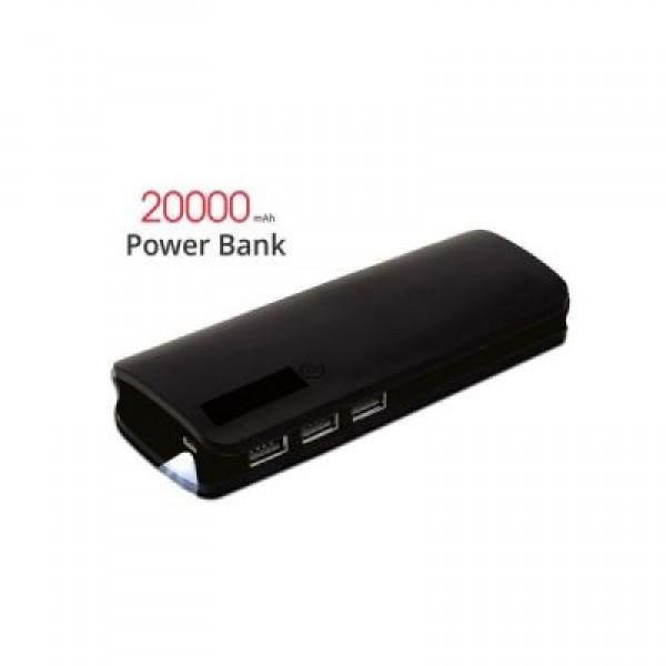 Baterie externa Power Bank, 20000 mah cu 3 USB si lanterna