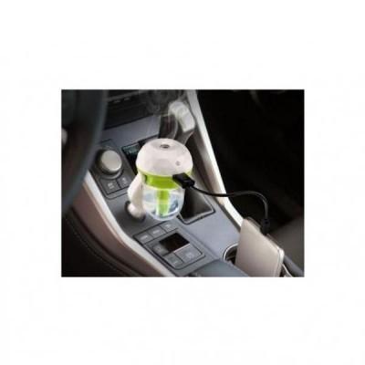Difuzor auto pentru aromoterapie si umidificare aer, cu mufa USB pentru incarcare telefon