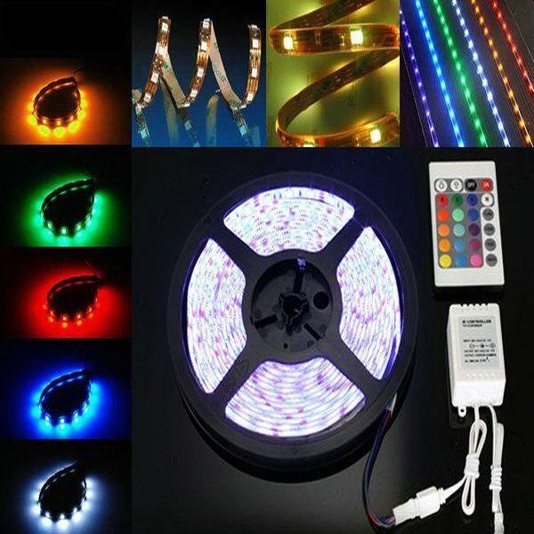 Banda LED multicolora, rezistenta la apa, flexibila, 5m
