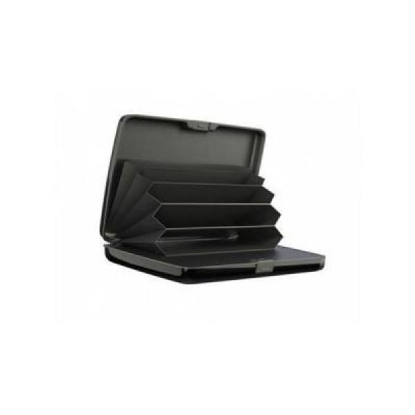Portofel carduri anti furt, securizat, cu baterie externa inclusa