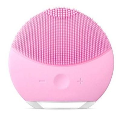 Aparat curatare si ingrijire ten, Luna Mini, roz, cu 8000 de pulsatii pe minut