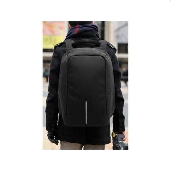 Rucsac anti furt, cu mufa USB, pentru laptop, impermeabil, negru