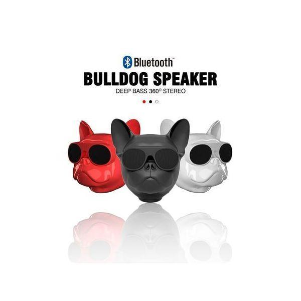 Boxa bluetooth portabila in forma de cap de Bulldog, cu sunet impecabil