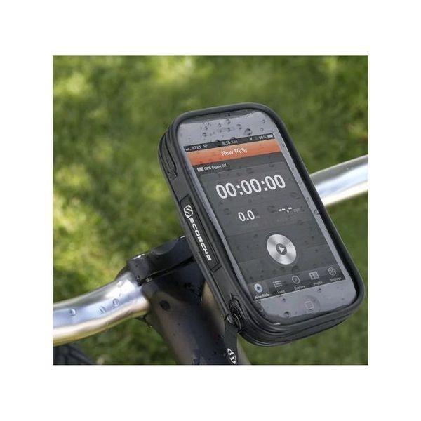 Suport de telefon pentru bicicleta, impermeabil, cu husa cu touch