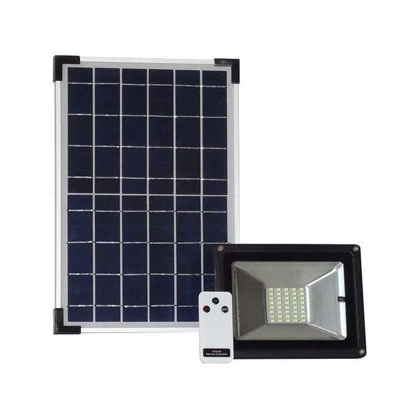 Proiector LED SMD 25W cu panou solar si telecomanda