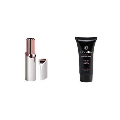 Set cosmetica: epilator facial Flawless + masca pentru puncte negre