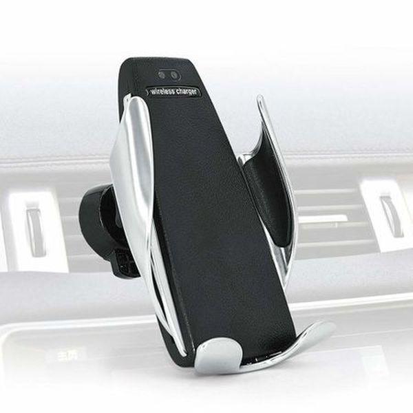 Incarcator auto telefon FAST CHARGE wireless cu sistem de prindere cu senzor