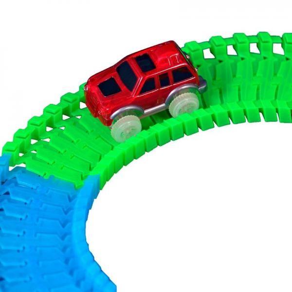 Jucarie pista de masini flexibila, cu masinuta inclusa