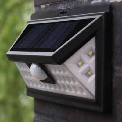 Lampa solara de perete cu 118 led-uri, cu senzor de miscare