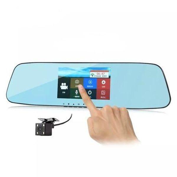 Oglinda retrovizoare cu camera video FullHD, G-senzor, infrarosu