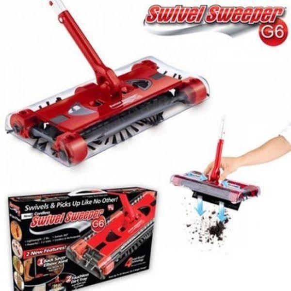 Matura electrica rotativa Swivel Sweeper extensibila, fara fir
