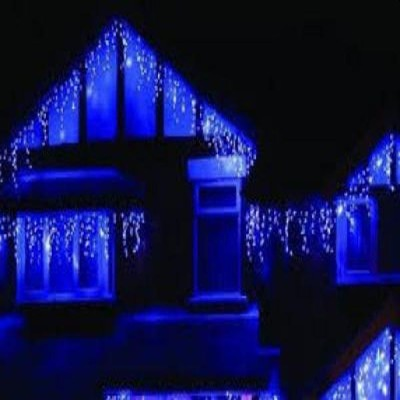 Instalatia led cu franjuri 8m , de exterior,  alba, albastra sau multicolora