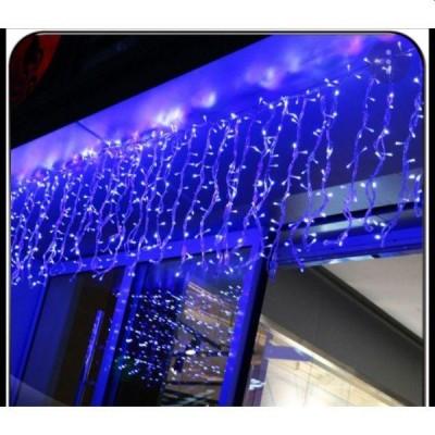 Instalatie de Craciun tip franjuri, 7 m, Albastru