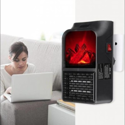 Aeroterma portabila Flame Heater 500 W cu 2 niveluri temperatura si display digital