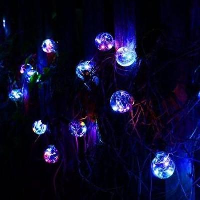 Ghirlanda luminoasa transparenta cu 8 becuri, multicolora, interior/exterior