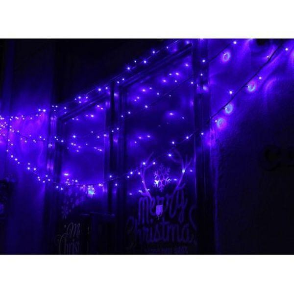 Instalatie de Craciun LED, liniara, 21 m, exterior/ interior, Albastra