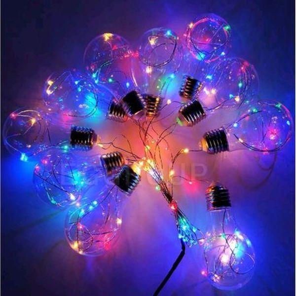 Ghirlanda de becuri luminoase multicolore, 3 m, interior/ exterior