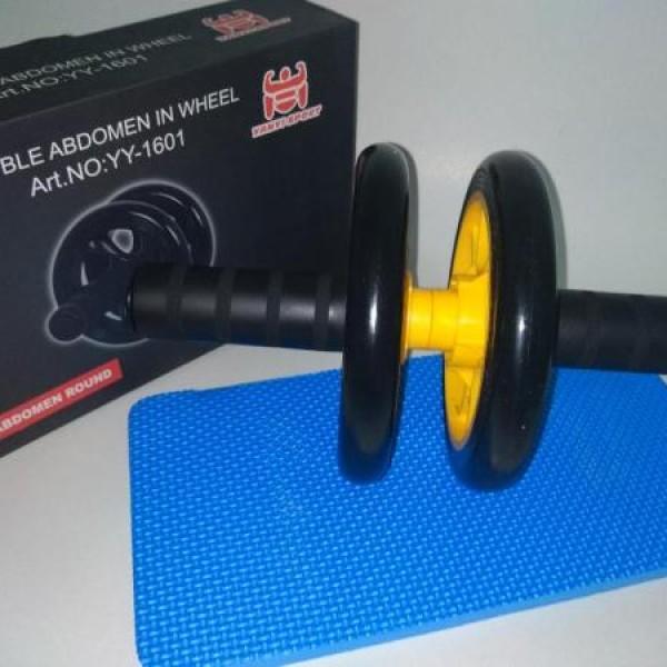 Roata dubla fitness antiaderenta pentru abdomen