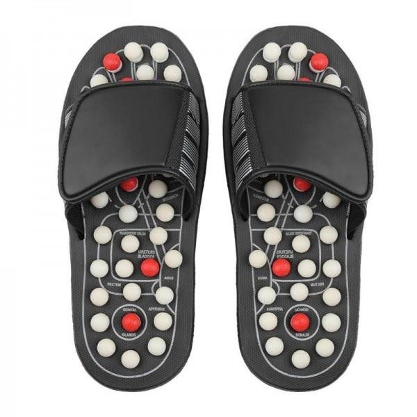 Papuci pentru masaj prin reflexoterapie, ajuta circulatia si reduc oboseala