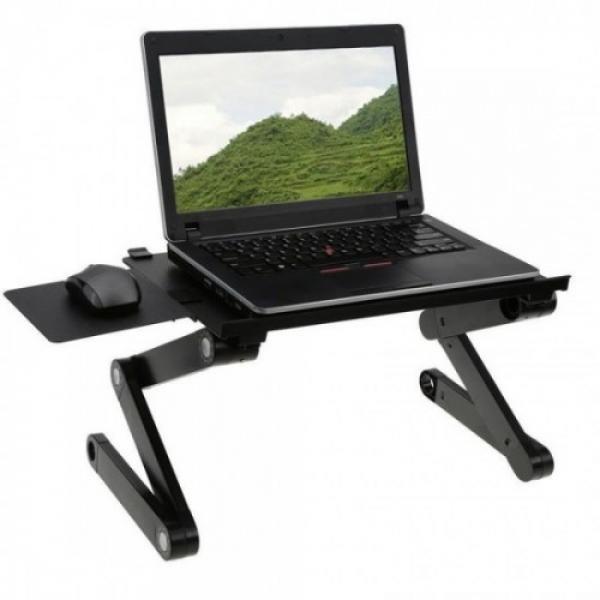 Masa laptop multifunctionala, reglabila, 2 ventilatoare