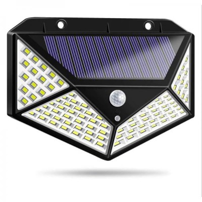 Lampa solara cu senzor de miscare, 100 LED