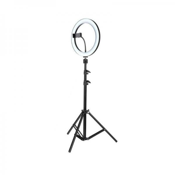 Lampa circulara LED cu trepied si suport de telefon