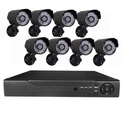 Sistem supraveghere 8 camere video CCTV, telecomanda inclusa