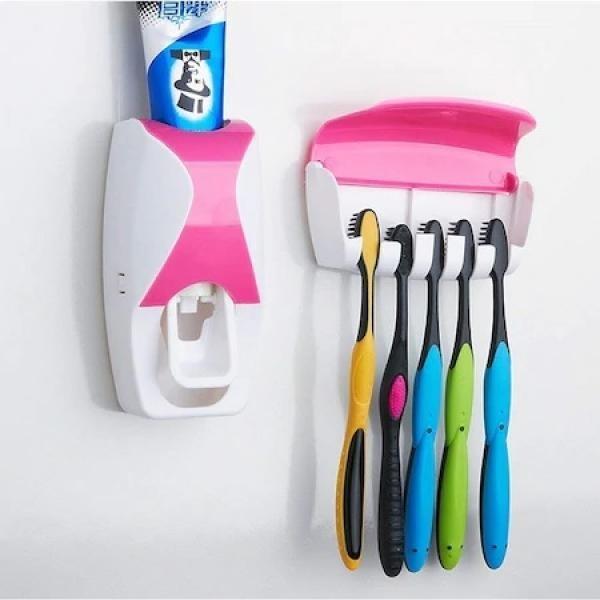 Dozator pentru pasta de dinti si suport de periute