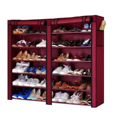 Dulap dublu textil pentru pantofi, 118 x 30 x 120 cm